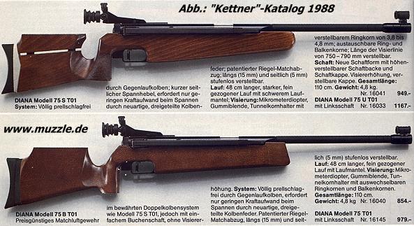 Diana 75 ersatzteile luftgewehr Ersatzteile Luftgewehr