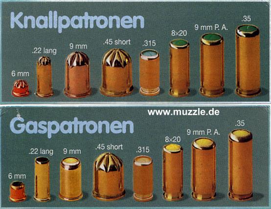 munition gaspistole cal 45